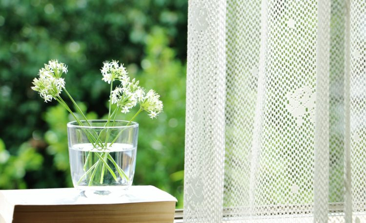 窓のカーテン