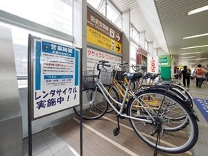 蛍池駅の貸自転車