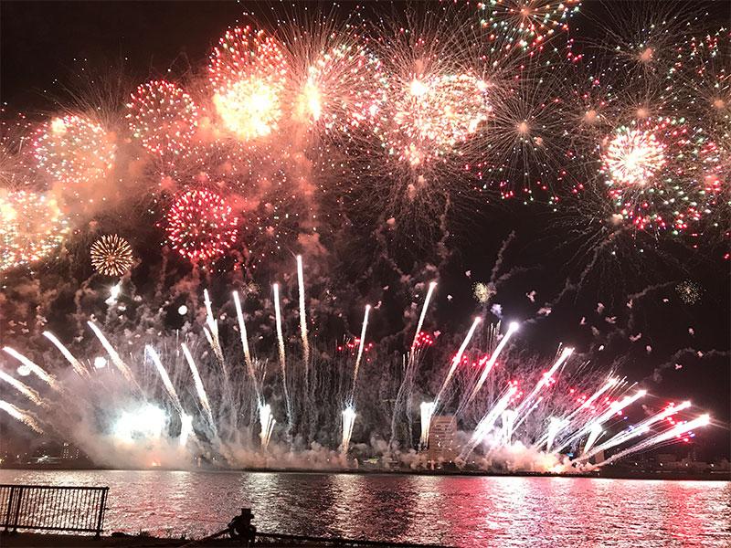 淀川の花火大会特等席